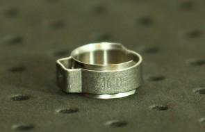 Opaska zaciskowa z wewnętrznym pierścieniem (wkładką) 13,1-15,3mm szer.8,2mm